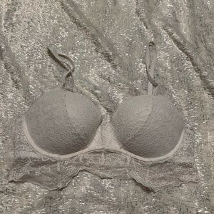 White Lace Pink Victoria secret Bra
